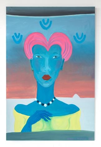 Barbara Nessim, Zandra with the Pink Hair, 2020