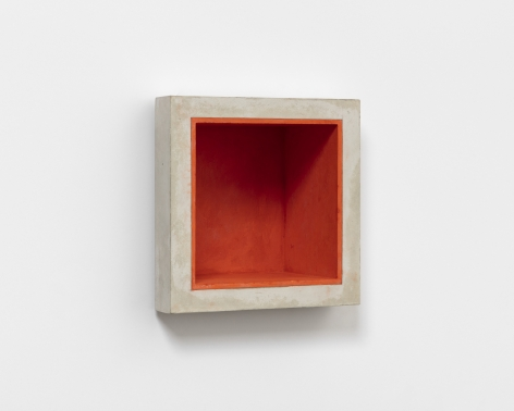 Jackie Winsor, Inset Wall Piece with Orange Interior, 1988-89