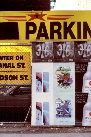Hans Haacke, Canal at Hudson (from Proposal for poster commemorating 9/11 with photographs of posters produced by Creative Time 6 months after attack, on approximately 100 media boards in Manhattan), 2001 - 2002
