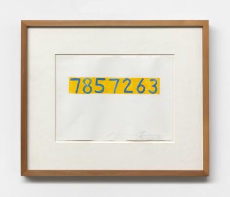 Jonathan Borofsky,  Untitled at 7,857,263, 1995