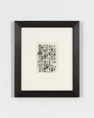 Bruce Conner INKBLOT DRAWING JUNE 8, 1975, 1975 ink 6 x 4 in. (15.2 x 10.2 cm) frame: 15 3/4 x 13 1/2 in. (40 x 34.3 cm)