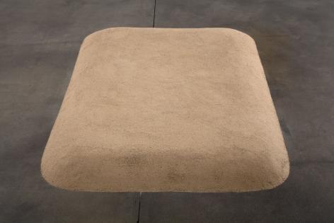 Meg Webster Sand Bed, 1982/2012 sand 84 x 60 x 6 in. (213.4 x 152.4 x 15.2 cm)