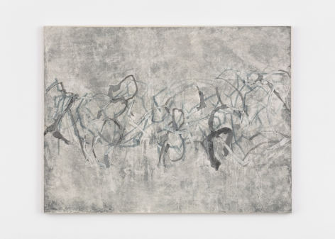 Beatrice Caracciolo  Tearing Apart 1, 2020, pigment, water soluble chalk, graphite, gouache and collage on paper, mounted on canvas, 43 x 56 3/4 x 1 1/4 in. (109.2 x 144.1 x 3.2 cm)