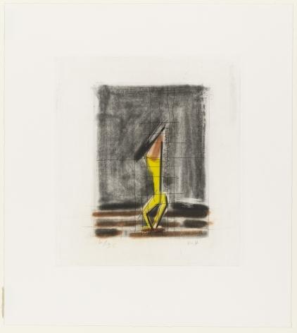 Michael Hurson, Gravure de Crayon, 1987