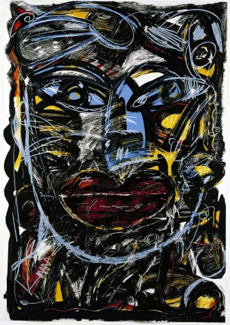 """Gronk Carmen 1991 Lithograph Edition of 60 54"""" x 38"""" 483c-G91 $2,000"""