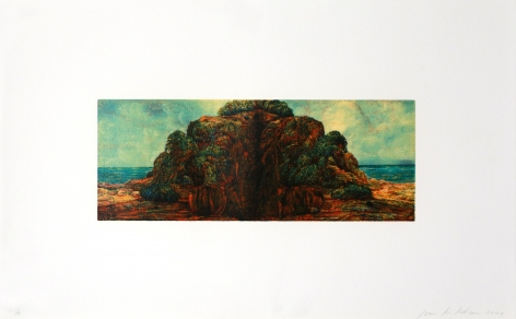 Joan Nelson Untitled (Island), 1999–2000 Lithograph, silkscreen varnish