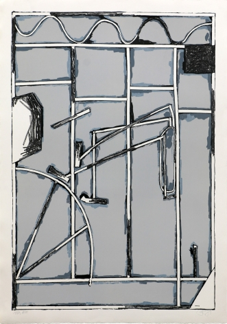Craig Kauffman  Untitled, State III, 1980  Lithograph, silkscreen