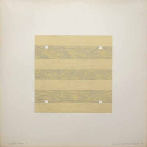 Tony Delap Karnac IV, 1972 Lithograph, embossing