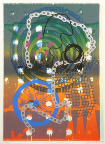 Jason Meadows Hybrids, 2004 Lithographic Monoprint, silkscreen, ed. 131, no. 117 30 x 22 in.