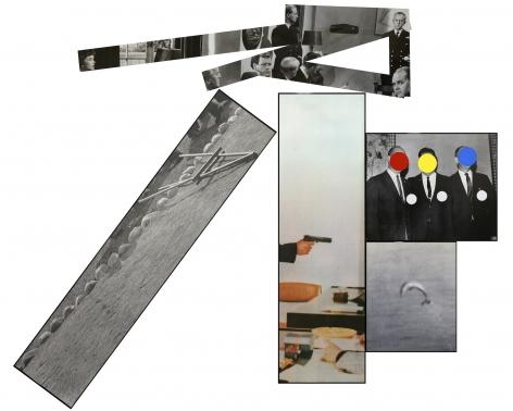 John Baldessari  The Fallen Easel, 1988  Lithograph, silkscreen on Arches 88, Ragcote, and five aluminum plates