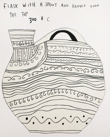 Jonas Wood Flask, 2015 Silkscreen, ed. 100