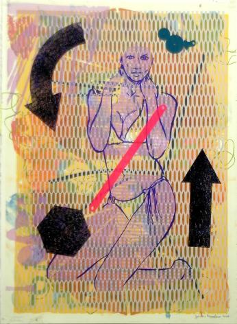 Jason Meadows Hybrids, 2004 Lithographic Monoprint, silkscreen, ed. 131, no. 112 30 x 22 in.