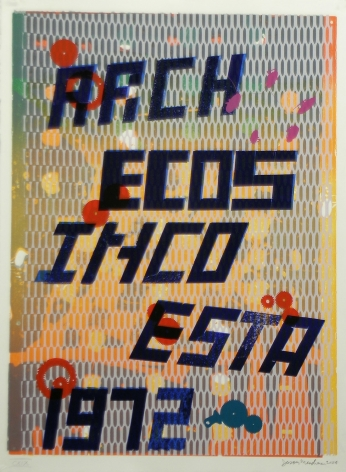 Jason Meadows Hybrids, 2004 Lithographic Monoprint, silkscreen, ed. 131, no. 119 30 x 22 in.