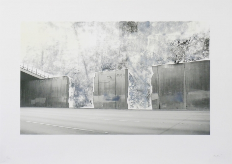 Ruben Ochoa  Untitled, 2006  Lithographic monoprint with hand-painted appliqué