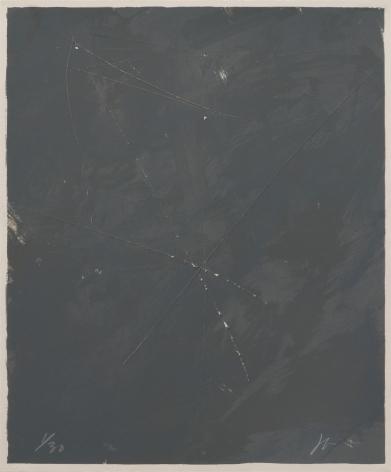 Joe Goode  Rainy Season '78, No. 4, 1978  Lithograph with razor blade impression by artist