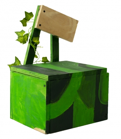 Holly Harrell   Forbidden Soda Stand 2, 2020  Wood, paint, plastic plant