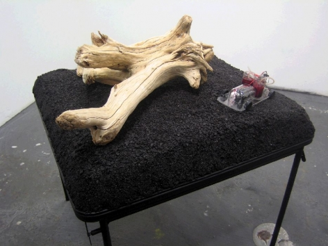 Joe Dutch, Installation and Performance in Artist's Studio, Conversation; table #1