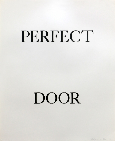 Bruce Nauman, Perfect Door