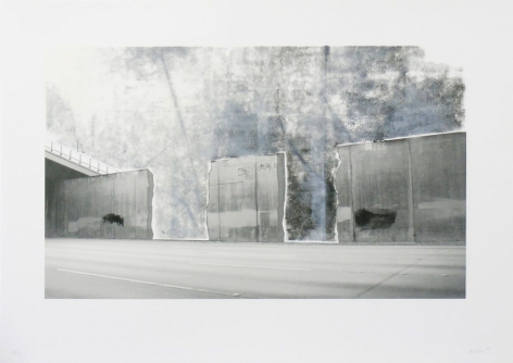 Ruben Ochoa Untitled, 2006 Lithographic monoprint with hand-painted appliqué, ed. 40, no. 27