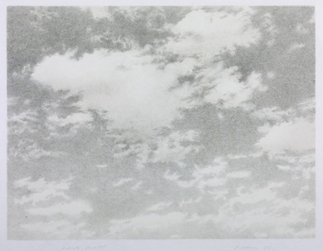 Vija Celmins Sky, 1975 Lithograph from the series Untitled Portfolio
