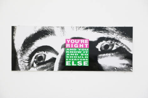 Barbara Kruger, You're Right