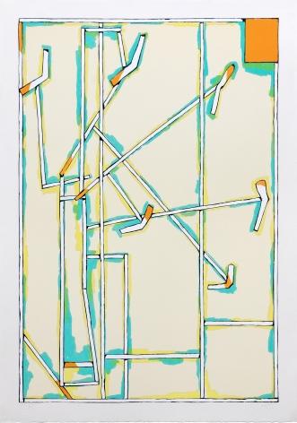 Craig Kauffman  Untitled, 1980  Lithograph, silkscreen