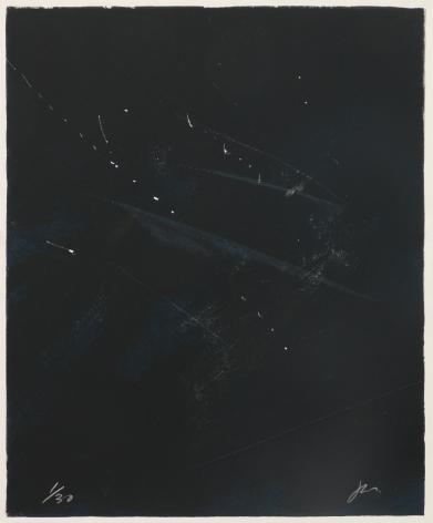 Joe Goode  Rainy Season '78, No. 1, 1978  Lithograph with razor blade impression by artist