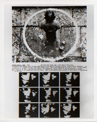 Dennis Oppenheim, Rocked Circle - Fear, 1973