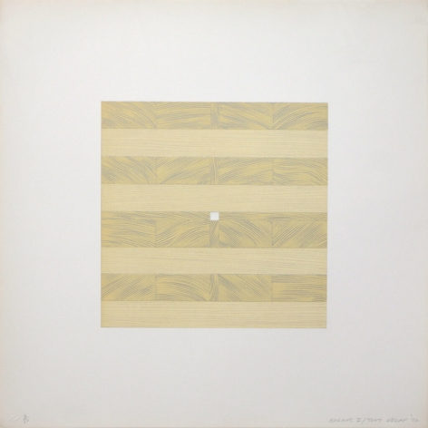 Tony Delap Karnac I, 1972 Lithograph, embossing