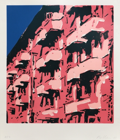 Roger Herman Untitled (Building), 2001 Lithograph, woodcut