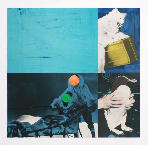 John Baldessari  Cliché: Eskimo (Blue), 1995  Lithograph, silkscreen