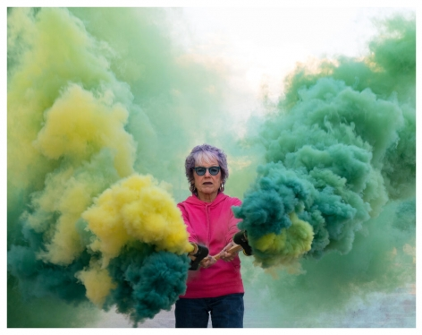 Judy Chicago On Fire at Eighty, 2019 Archival pigment print