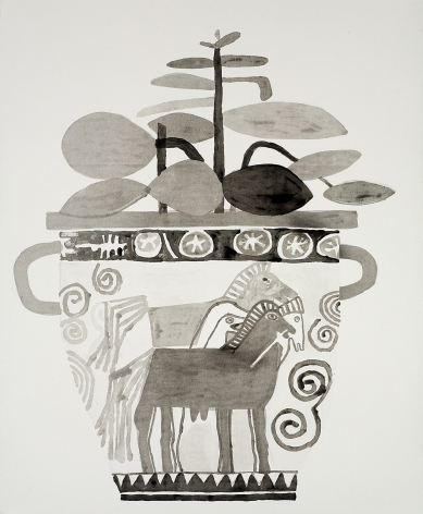 Jonas Wood Untitled, 2010 Lithographic monoprint, no. 12 from a series of 15 unique monoprints