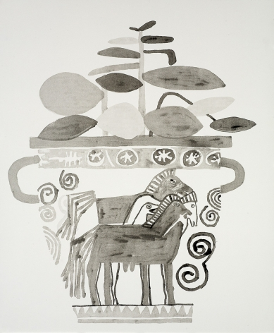 Jonas Wood Untitled, 2010 Lithographic monoprint, no. 15 from a series of 15 unique monoprints