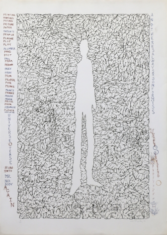 William T. Wiley Mr. Nobody, 1975 Lithograph, ed. 45