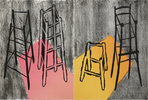 Craig Kauffman  Untitled, 1984  Lithograph (diptych)