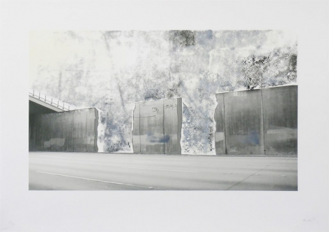 Ruben Ochoa Untitled, 2006 Lithographic monoprint with hand-painted appliqué, ed. 40, no. 28