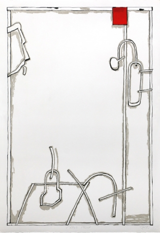 Craig Kauffman  Untitled, 1980  Lithograph, hand-applied varnish