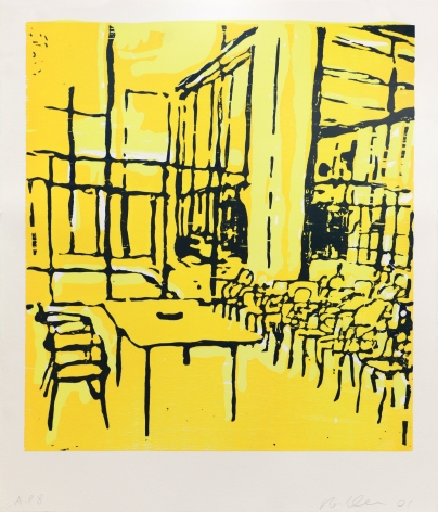 Roger Herman Untitled (Classroom), 2001 Lithograph, woodcut