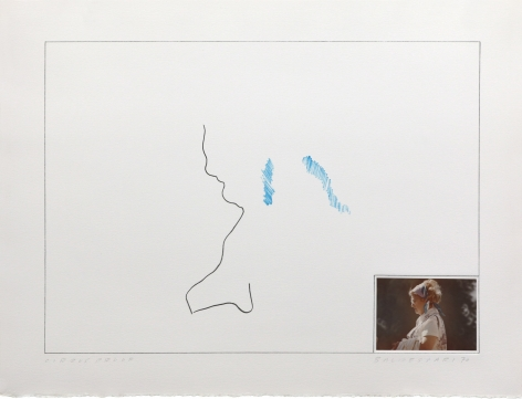 John Baldessari Raw Prints (Blue), 1976 Lithograph, hand-tipped color photograph and embossing