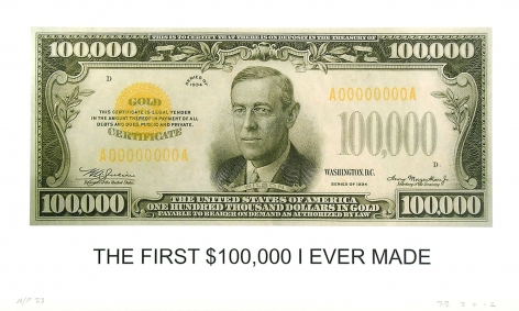 The First $100,000 I Ever Made, 2012