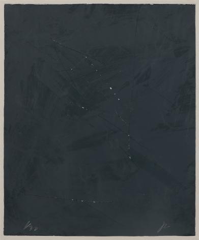 Joe Goode  Rainy Season '78, No. 3, 1978  Lithograph with razor blade impression by artist