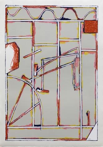 Craig Kauffman  Untitled, State II, 1980  Lithograph, silkscreen