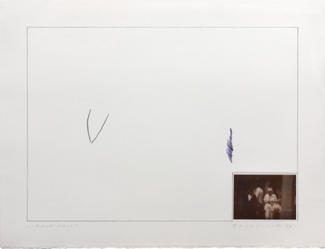 John Baldessari Raw Prints (Purple), 1976 Lithograph, hand-tipped color photograph and embossing