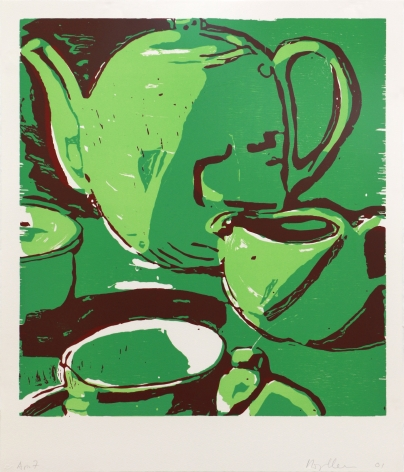 Roger Herman Untitled (Teapot), 2001 Lithograph, woodcut