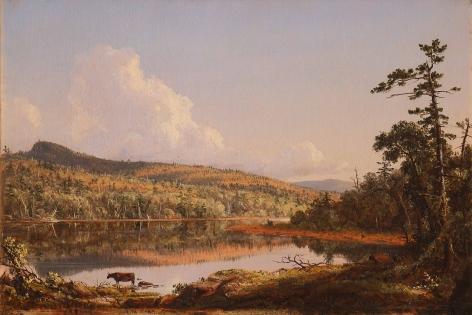 Frederic Edwin Church, North Lake, 1847, oil on canvas, 12 x 19 inches (30.5 x 48.3 cm)