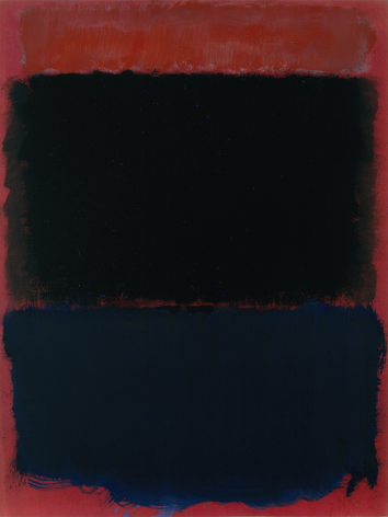 Mark Rothko, Untitled, 1968, tempera on paper drawing board mounted on canvas, 28 5/16 x 21 1/4 inches (71.9 x 54 cm)© 2020 by Kate Rothko Prizel and Christopher Rothko