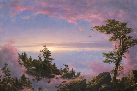 Frederic Edwin Church, Above the Clouds at Sunrise, 1849, oil on canvas, 27 1/4 x 40 inches (69.2 x 101.6 cm)