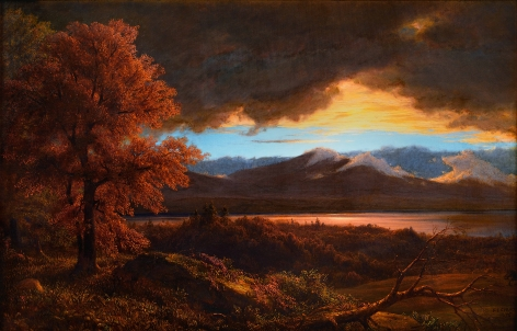 Frederic Edwin Church, After the Rain Storm, 1875, oil on canvas mounted on panel, 22 1/2 x 33 1/2 inches (57.2 x 85.1 cm)