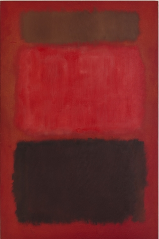 Mark Rothko, Browns and Blacks in Reds, 1957, oil on canvas, 91 x 60 inches (231.1 x 152.4 cm) © 1998 by Kate Rothko Prizel and Christopher Rothko